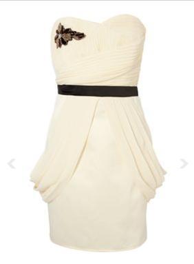Bandeau šaty vo farbe ivory, 40