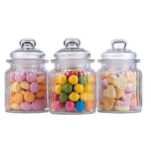 Candy Bar Sklenená dóza na cukríky / menšia,