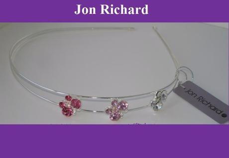 Čelenka s kryštálovými motýľmi - ružovej farby,