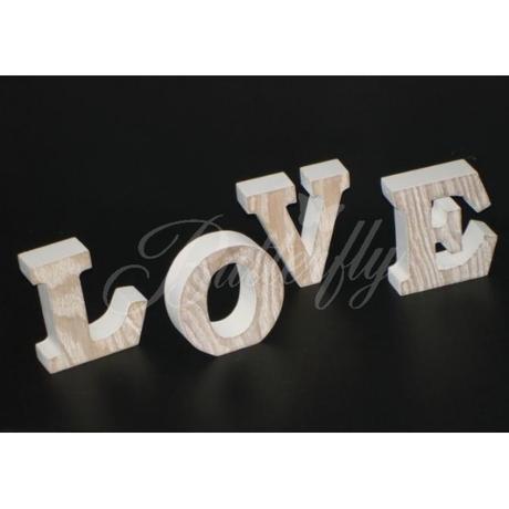 """Dekorácia """"LOVE"""" - Vintage / písmenká,"""