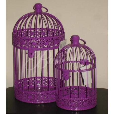 Dekoračná klietka - fialová (menšia),