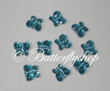 Dekoračné diamantíky v tvare motýla 50ks/ 10farieb,