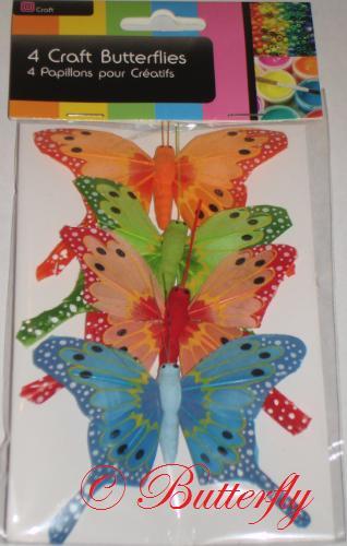 Dekoračné motýle - set 4ks/1,99eur,