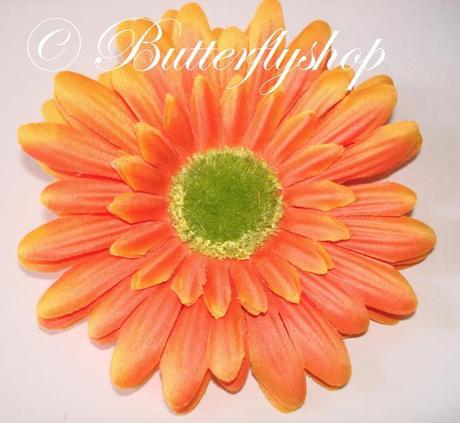 Gerbera - hlávka, oranžová,