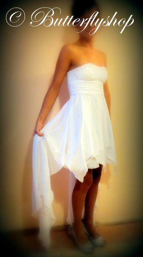 Hailey Logan, BY ADRIANNA PAPELL šaty - biele, 34