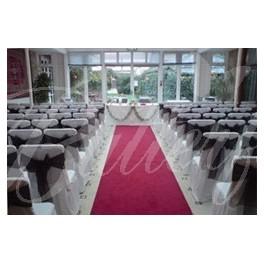 Katedrálový koberec - 12m / červený,