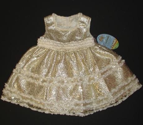 Ligotavé šatičky - zlaté, 86