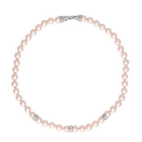 Náhrdelník + náušnice / ružové perličky,