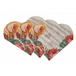 """Papierové servítky """"Vintage srdce"""" - 15ks,"""