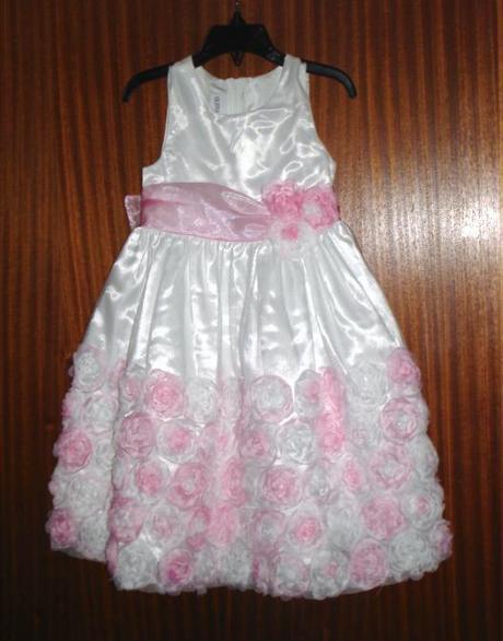 Šaty s kvetinkami - RužovoBiele, 110