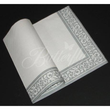 Servítky z netkanej textílie / bielo-striborné,