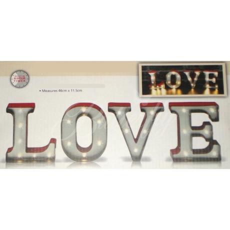 Svietiaca dekorácia Love,