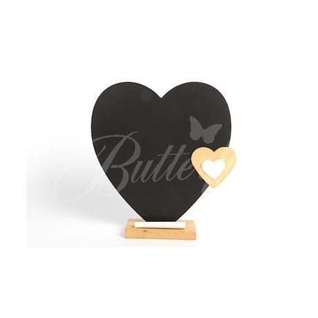 Tabuľka v tvare srdca + krieda,