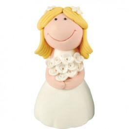 Tortová postavička - blond nevesta,