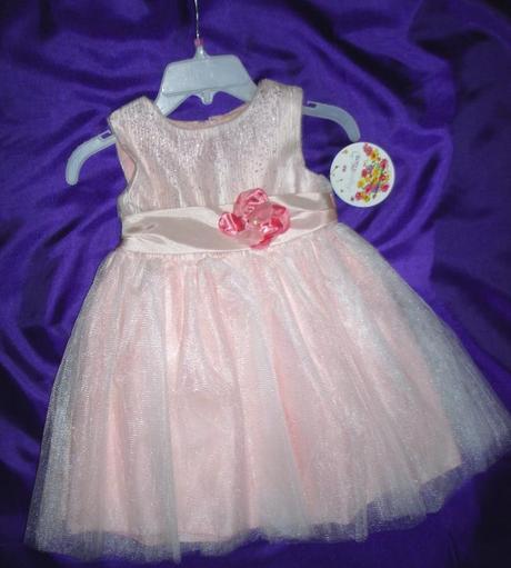 Trblietavé šaty - ružové, 104