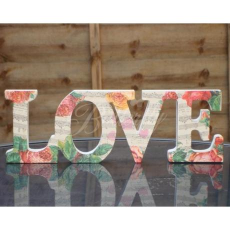 "Vintage dekorácia ""Romantic Love"","