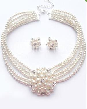 Vintage - perlový set,