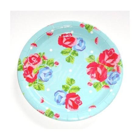 Vintage tanieriky - kvetové 4ks,