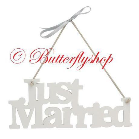 """Závesná ozdoba """"Just Married"""","""