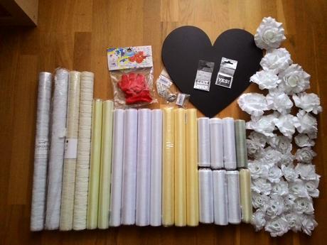 Bílé / ivory dekorace - židle, stoly, auta, fotky,