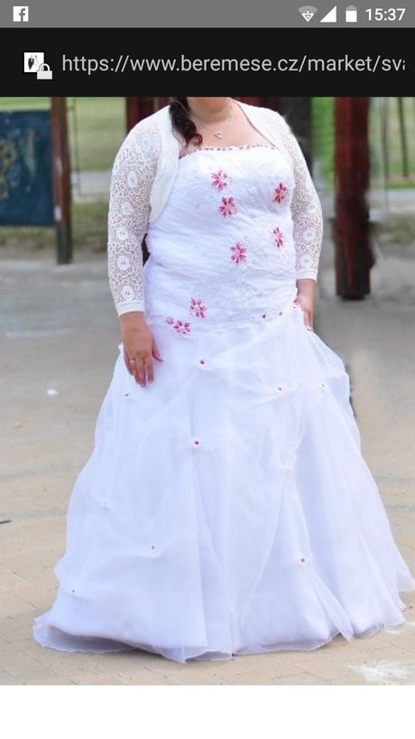 Svatební šaty velikost 48, 48