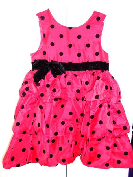 Dievč.červené slávnostne šaty z.H&M, 128