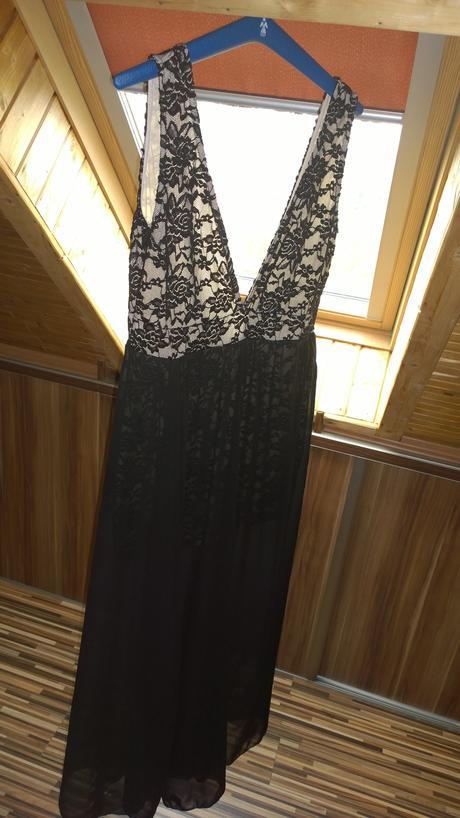 Spoločenské šaty čierno zlaté, 40