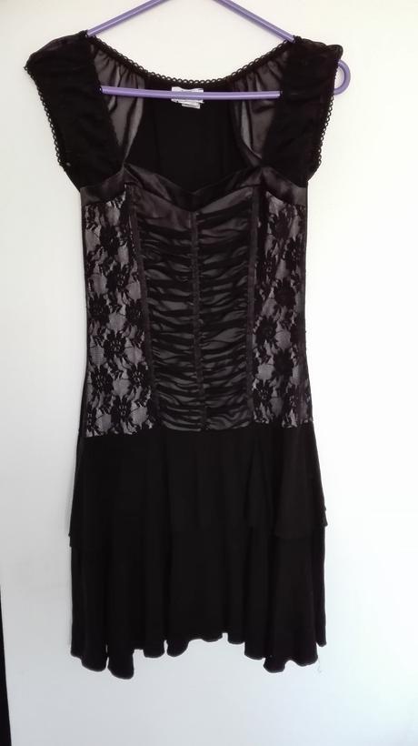 Společenské šaty - černé , 38