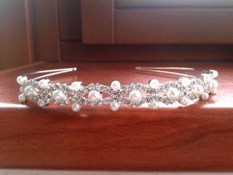 Čelenka, korunka, s krystaly, Swarovski, s perlami,