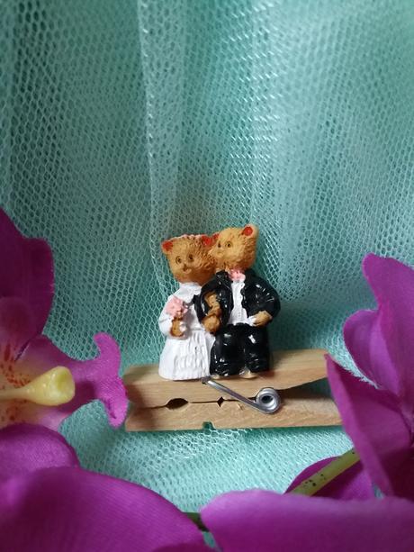 Figurky medvídci na dort na kolíčku,
