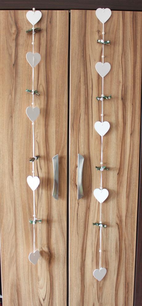 Girlanda Dekorace na skříň, ven, zahradu, srdce,