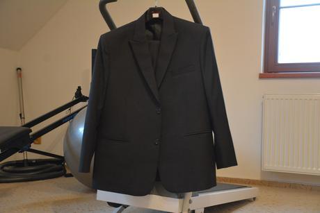 Pánský značkový svatební oblek Pierre Cardin, 60