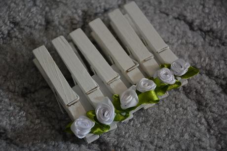 Svatební kolíčky s růžičkou,