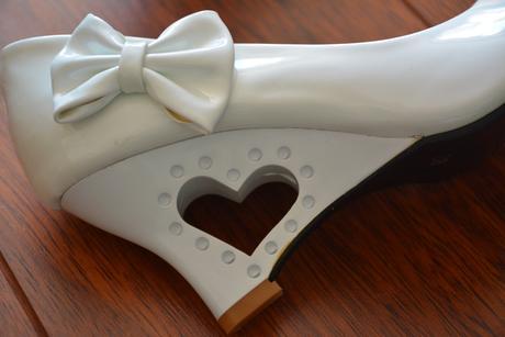 Svatební sněhově bílé lodičky se srdcem, 38