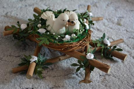 Věnec, Ozdoba, Dekorace Hrdličky v hnízdě ,