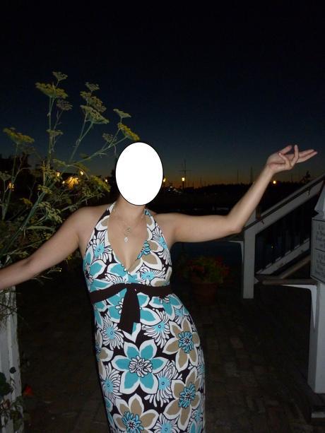 Letní šaty za krk, L