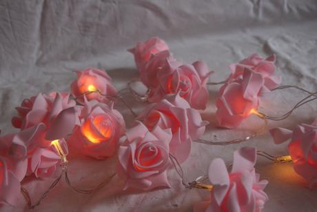 Svítící řetěz růží,