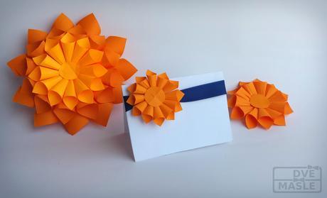 Jmenovky s 3D květinkou,
