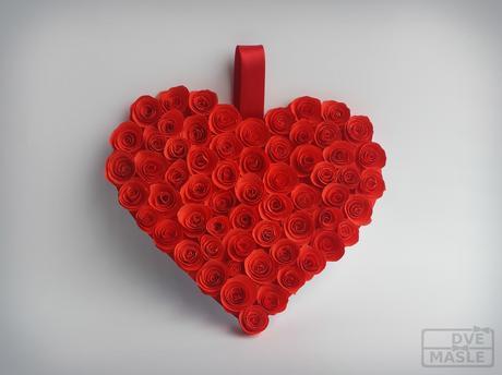 Srdce z růžiček,