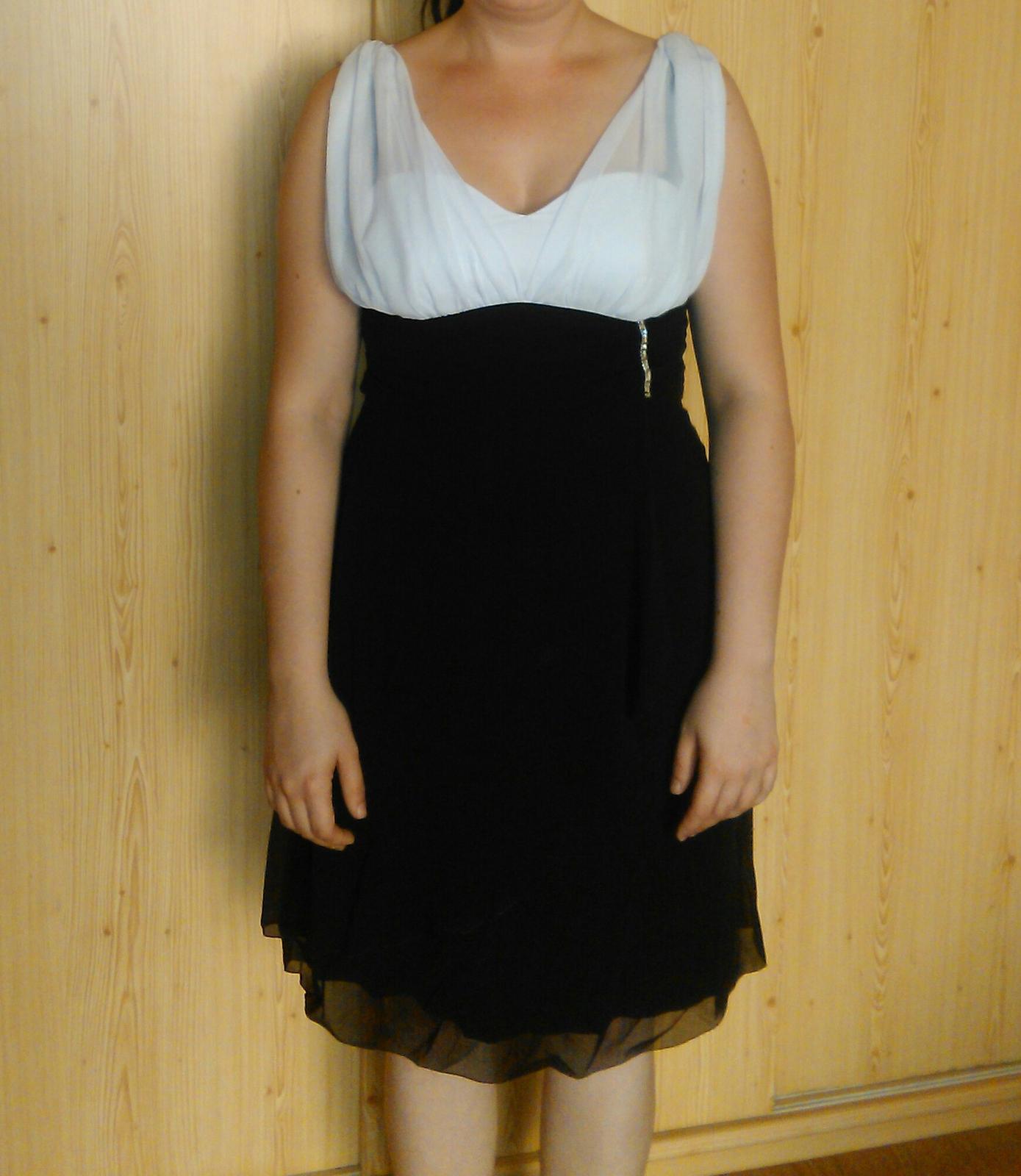 Cierno biele spoločenské šaty. 530ef46305e