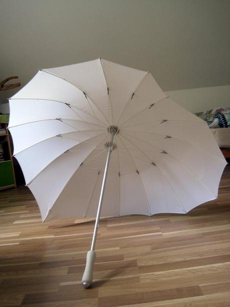 Svatební deštník srdce,