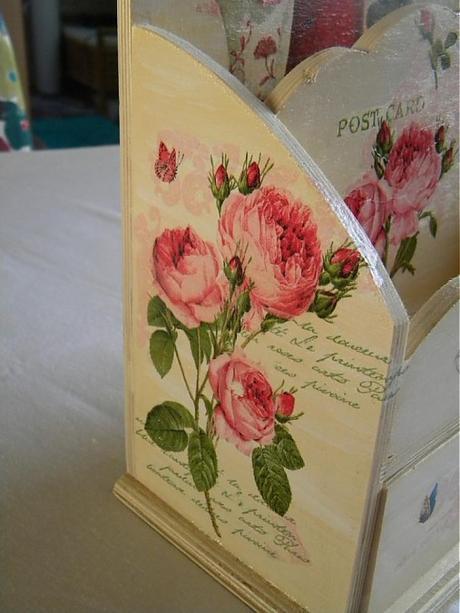 Romantický zakladač na poštu a odkazy so šuflíkom,