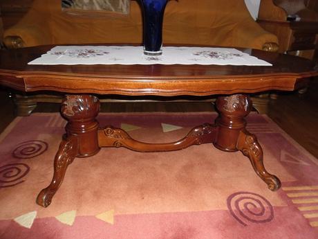 rustikálny stôl,