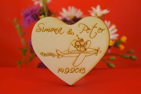 Drevená svadobný magnetka ako darček pre hosti 39,