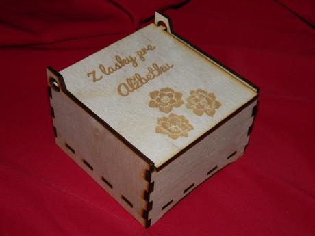 Krabička s venovaním 10x10x6,5,