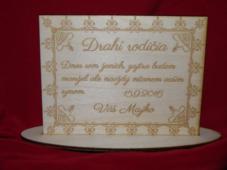 Poďakovanie rodičom na svadbu preglejka 3,