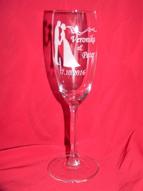 Svadobné poháre + gravirovanie 12,