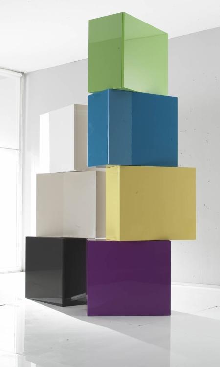 Dizajnová talianska skrinka Cube Color,