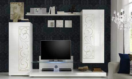 Dizajnová zostava talianskych skriniek Padua,