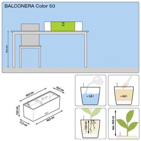 Samozavlažovací kvetináč Balconera 50 Lechuza,